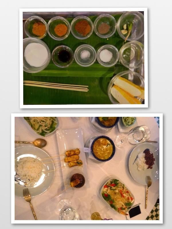 Do mise en place a comida na mesa posta (=