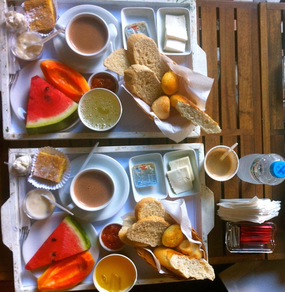 Caf da manh aos p s do cristo redentor blog utens lios for Utensilios para servir comida