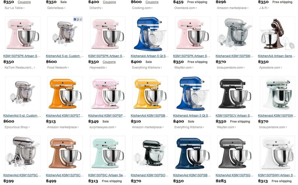 Para terem noção dos preços nos EUA e da variedade de modelos. Fonte: site www.thefind.com